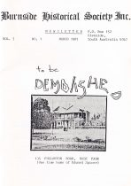 Burnside Historical Society newsletter, March, 1987, cover