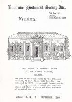 Burnside Historical Society newsletter, September, 1990, cover