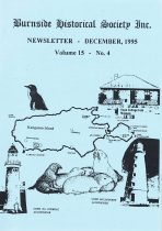Burnside Historical Society newsletter, December, 1995, cover