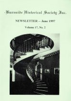 Burnside Historical Society newsletter, June, 1997, cover