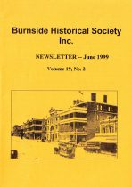 Burnside Historical Society newsletter, June, 1999, cover