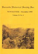 Burnside Historical Society newsletter, December, 1999, cover