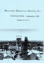 Burnside Historical Society newsletter, September, 2001, cover