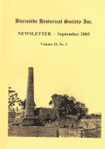 Burnside Historical Society newsletter, September, 2005, cover