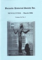 Burnside Historical Society newsletter, March, 2006, cover