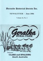 Burnside Historical Society newsletter, June, 2006, cover