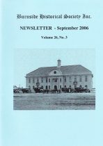 Burnside Historical Society newsletter, September, 2006, cover