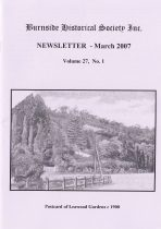Burnside Historical Society newsletter, March, 2007, cover