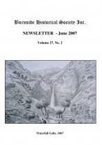 Burnside Historical Society newsletter, June, 2007, cover