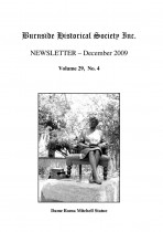 Burnside Historical Society newsletter, December, 2009, cover