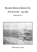 Burnside Historical Society newsletter, June, 2008, cover