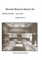 Burnside Historical Society newsletter, June, 2009, cover