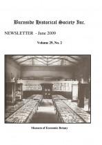 Burnside Historical Society newsletter, June, 2009, cover