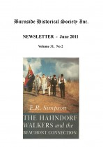 Burnside Historical Society newsletter, June, 2011, cover