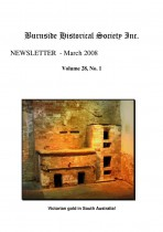 Burnside Historical Society newsletter, March, 2008, cover
