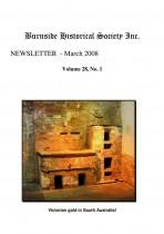 Burnside Historical Society newsletter, March, 2008, cover