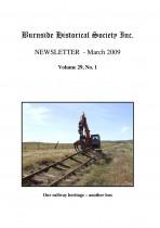 Burnside Historical Society newsletter, March, 2009, cover