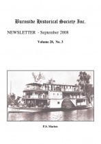 Burnside Historical Society newsletter, September, 2008, cover