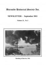 Burnside Historical Society newsletter, September, 2011, cover