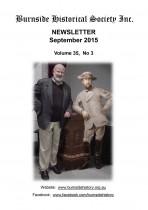 Burnside Historical Society newsletter, September, 2015, cover