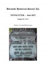 Burnside Historical Society newsletter, June, 2015, cover