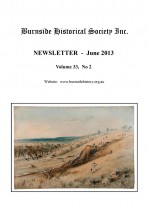 Burnside Historical Society newsletter, June, 2013, cover