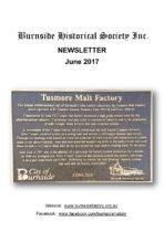Burnside Historical Society newsletter, June, 2017, cover