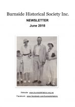 Burnside Historical Society newsletter, Jun 2018, cover
