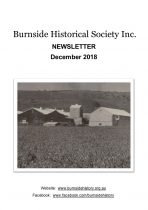 Burnside Historical Society newsletter, December, 2018, cover
