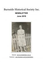 Burnside Historical Society newsletter, June, 2019, cover